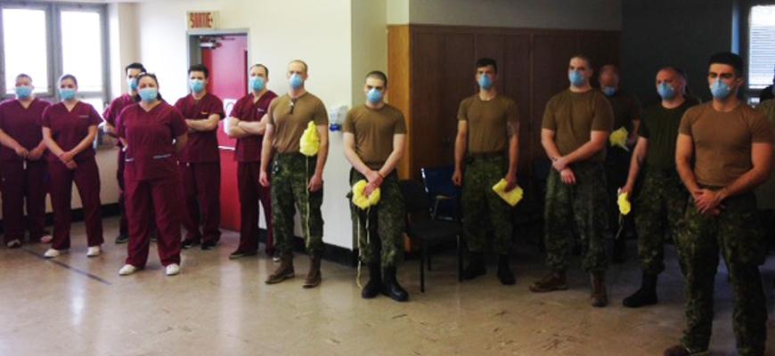 27 soldats de l'armée canadienne sont arrivés au CHSLD Rousselot