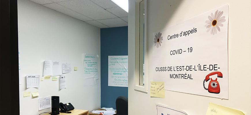 Centre d,appel COVID-19